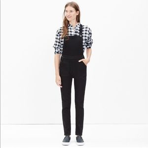 Madewell Black Denim Overalls Small